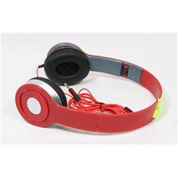 REPLICA BEATS OVER HEAD PHONES, RED