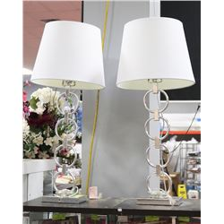 PAIR OF SHOWHOME SILVERTONE LAMPS