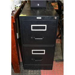 BLACK METAL FILE CABINET WITH KEY