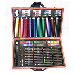 123 ART SET WITH CASE, 124 PIECES