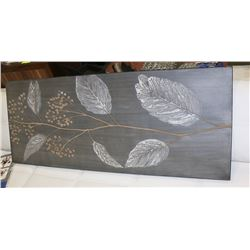 "LEAF CANVAS PICTURE 50""X20""."