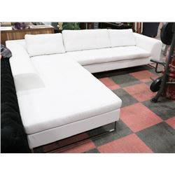 2PC SHOWHOME WHITE LEATHERETTE SECTIONAL,