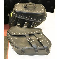 PAIR OF HARLEY LEATHER SADDLE BAGS