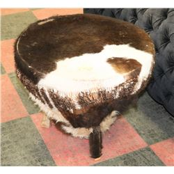 DRUM COVERED WITH CALF HIDE