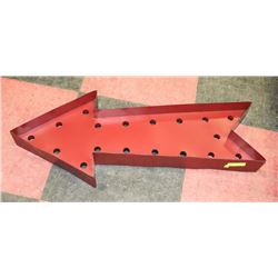 RED DECORATIVE SHOWHOME ARROW DECOR,