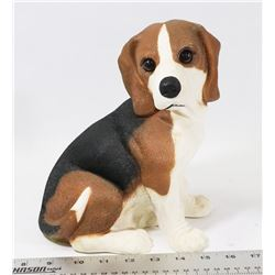 "BEAGLE DOG STATUE 9"" TALL."