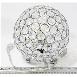 GEM STYLE GLOBE TABLE LAMP.