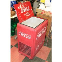 "LARGE COCA COLA ICE COOLER 33"" TALL X 27"" WIDE"