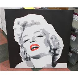 "MARILYN MONROE CANVAS PICTURE 35.5""X35.5""."