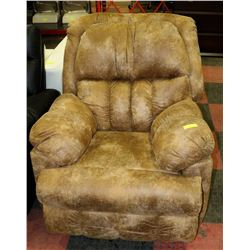 NEW LIGHT BROWN FABRIC ROCKER RECLINER 36""