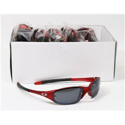 BOX OF RED OAKLEY STYLED SUNGLASSES WITH SMOKED