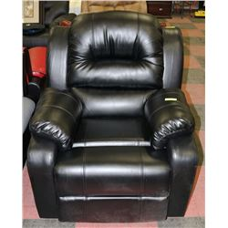 "NEW 36"" BLACK LEATHERETTE ROCKER RECLINER"