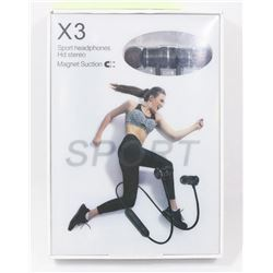 X3 SPORT BLUETOOTH WIRELESS HEADPHONES,