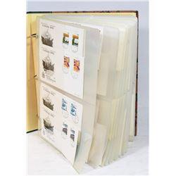 LARGE BOOK WITH CANADA FIRST DAY COVERS,