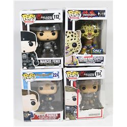 LOT OF 4 FUNKO POPS