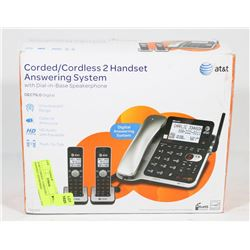 AT&T CORDED / CORDLESS 2 HANDSET ANSWERING