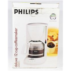 DELUXE 12 CUP COFFEE MAKER.