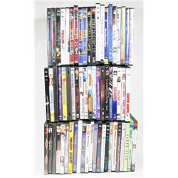 LOT OF 60+ ASSORTED DVDS.