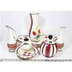 LOT OF UKRAINIAN DESIGN DISHWARE.