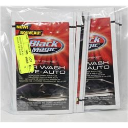 BAG OF 10 PACKAGES OF BLACK MAGIC CAR WASH