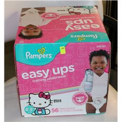 BOX OF 56 PAMPERS TRAINING PANTS 4T-5T
