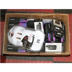 LARGE BOX OF LEATHER CELL PHONE HOLSTERS & MORE
