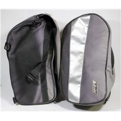 PAIR OF SOFT SIDED MOTORCYCLE BAGS