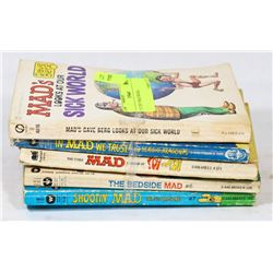 LOT OF 5 MAD BOOKS.