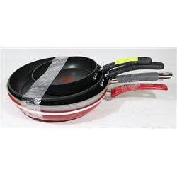 LOT OF 4 T-FAL FRYING PANS