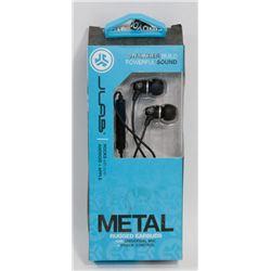 JLAB METAL RUGGED EARBUDS W/ UNIVERSAL MIC