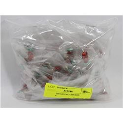 BAG OF 100 METAL CHERRY CHARMS
