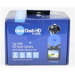 CLEAR DASH HD DASH CAMERA 1080P WIDE ANGLE
