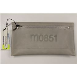 M0851 MARBLE WHITE LEATHER ENVELOPE CLUTCH