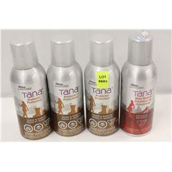 3 CANS OF TANA SUEDE & NUBUCK PROTECTOR & 1 TANA