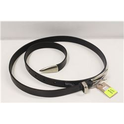 "32"" BRAVE BLACK TRUTIA LEATHER BELT"