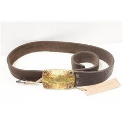 "34"" BRAVE BROWN ALCAR LEATHER BELT"