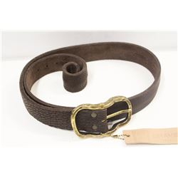"32"" BRAVE BROWN SIRAH LEATHER BELT"