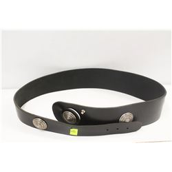 LARGE BLACK RIMANCHIK LEATHER BELT