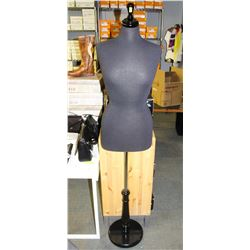 5FT ADJUSTABLE FABRIC-LINED MANNEQUIN W/ WOOD BASE