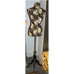 4-5FT ADJUSTABLE FABRIC-LINED MANNEQUIN W/ WOOD