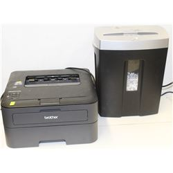 HL-L23600W BROTHER PRINTER & DYNEX SHREDDER