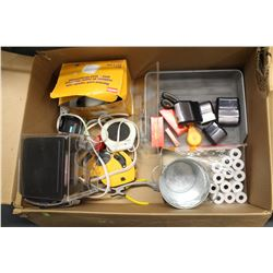 BOX OF OFFICE & CLEANING SUPPLIES