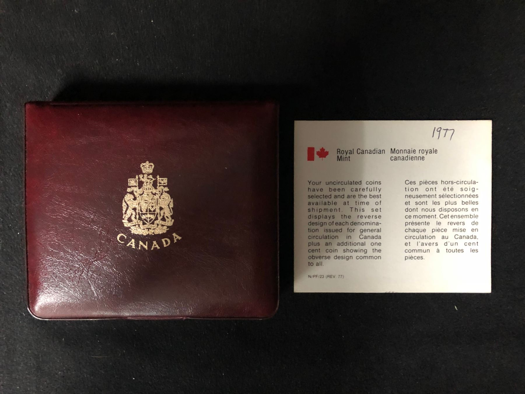 1972 Canada Royal Canadian Special Issue Specimen Double Penny Coin Set