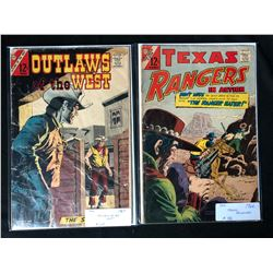 1960'S CDC COMICS BOOK LOT (OUTLAWS OF THE WEST/ TEXAS RANGERS)