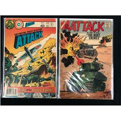 VINTAGE ATTACK COMIC BOOK LOT