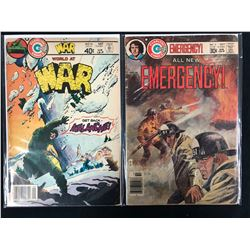 CHARLTON COMICS BOOK LOT (WORLD AT WAR #16/ ALL NEW EMERGENCY #3)