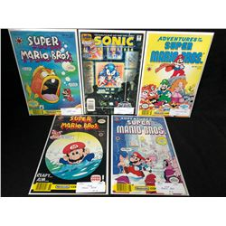 1990'S MARIO BROS COMIC BOOK LOT