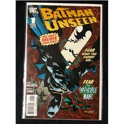 BATMAN UNSEEN #1 (DC COMICS) *FIRST ISSUE*