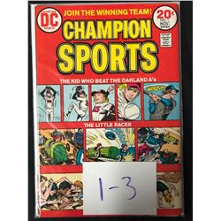CHAMPION SPORTS #1-3 (DC COMICS)