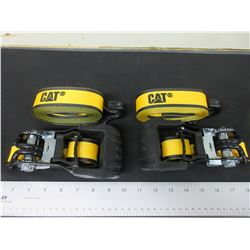 2 New CAT Ratchet Straps / 16 feet x 1-1/2 inch 3000lb break strength